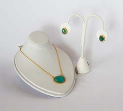Christy Geis necklace and earrings