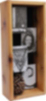 LOVE with Pinecone - Custom Shadowbox Frame