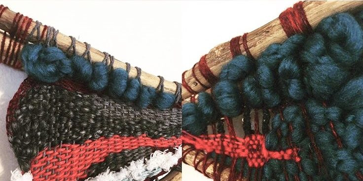 Fiber Art, hand weaving