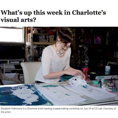 HappeningsCLT highlights Elizabeth Palmisano in Charlotte Observer