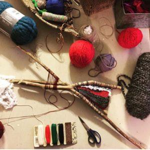 Fiber Art, hand weaving