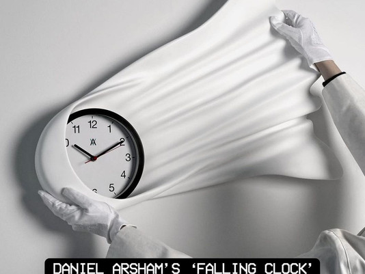 Daniel Arsham's 'Falling Clock' edition is Out Now! You can purchase it on his website.