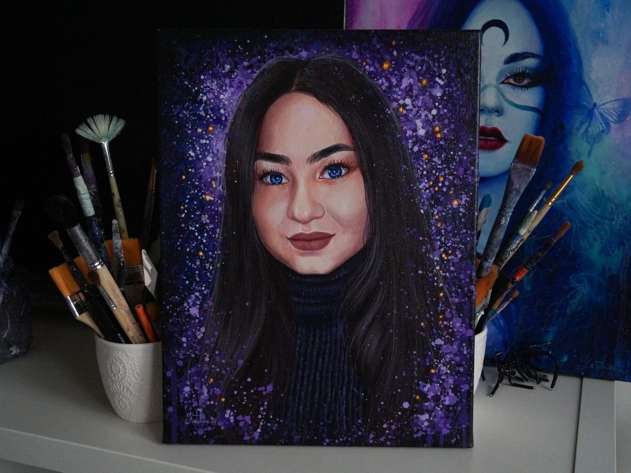 Портрет для девушки 30х40