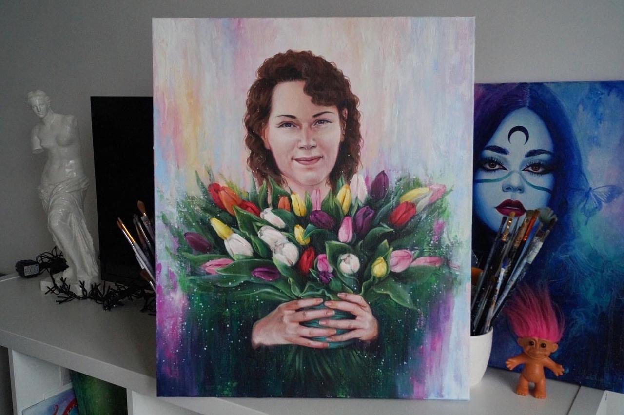 Портрет для мамы на юбилей