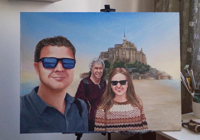 Семейный портрет в подарок сестре