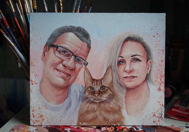 Семейный портрет с котом