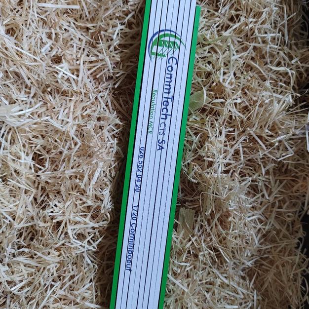 Double-mètre coloré bois de hêtre
