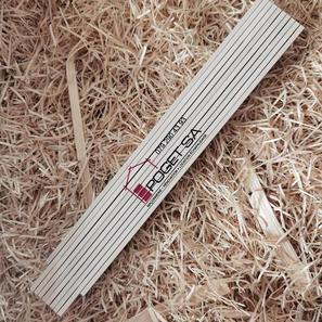 double-mètre en bois de hêtre