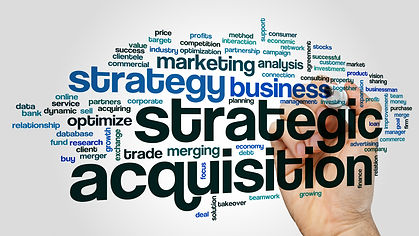 Strategic acquisition concept word cloud