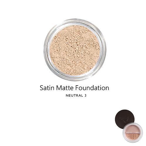 絲緞啞光粉底 (自然色系3) Satin Matte Foundation (Color:Neutral 3)