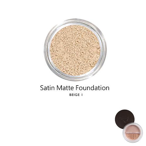 絲緞啞光粉底 (米黃色系1) Satin Matte Foundation (Color:Beige 1)