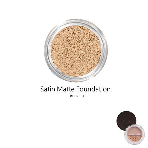 絲緞啞光粉底 (米黃色系3) Satin Matte Foundation (Color:Beige 3)
