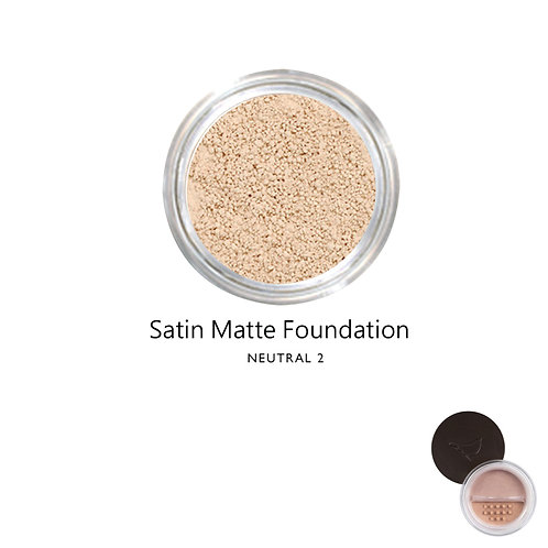 絲緞啞光粉底 (自然色系2) Satin Matte Foundation (Color:Neutral 2)