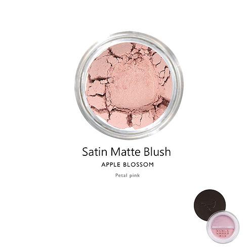 天然礦物絲緞啞光胭脂 (淡粉紅色) Satin Matte Blush (Color:Apple Blossom)