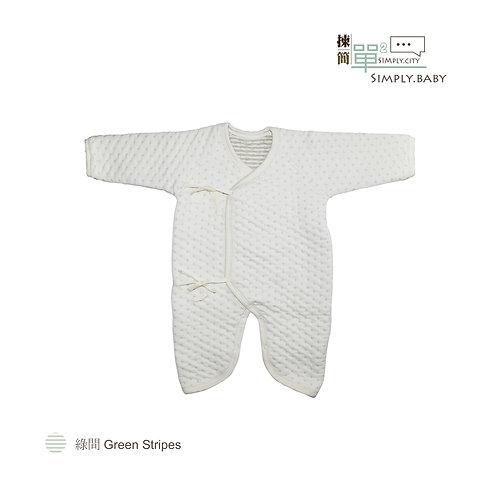 有機棉BB和尚加厚夾棉衣 Organic Cotton Baby Side Snap Double Layer Bodysuit