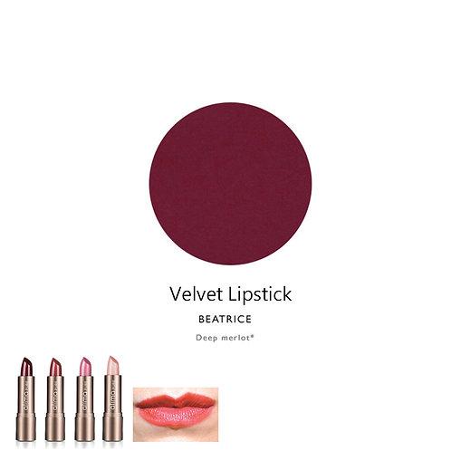 天然輕盈鮮明唇膏 (深啡紅色) Velvet Lipstick (Color:Beatrice)