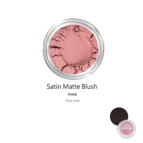 天然礦物絲緞啞光胭脂 (粉紅色) Satin Matte Blush (Color:Pink)
