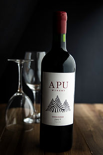 Apu Peruvian Wine-Sangiovese. High altitude wine, craft wine, winery peru