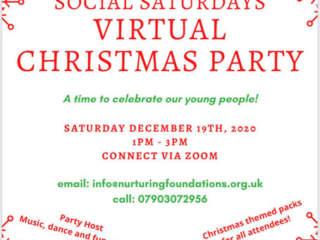 Social Saturdays Virtual Christmas Party