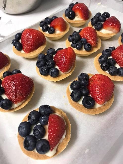 Fruit tart with custard filling(6 pieces)