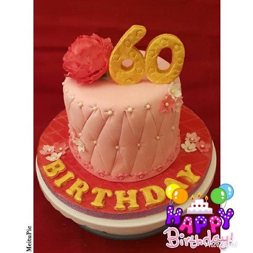 Peony Birthday Cake(Enquire for price)