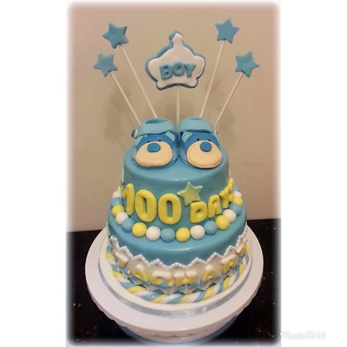 Tailormade Baby Shoes 100 days celebration cake(Enquire for Price)