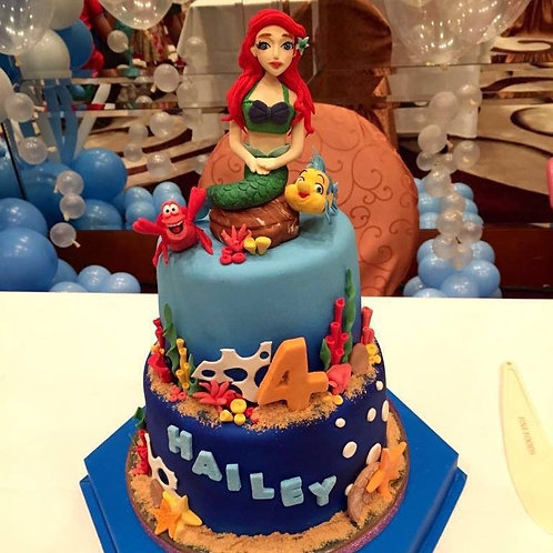 Ariel Themed cake(enquiry for price)