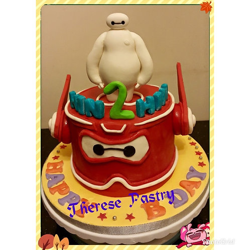 Tailormade Baymax themed birthday cake(Enquire for price)