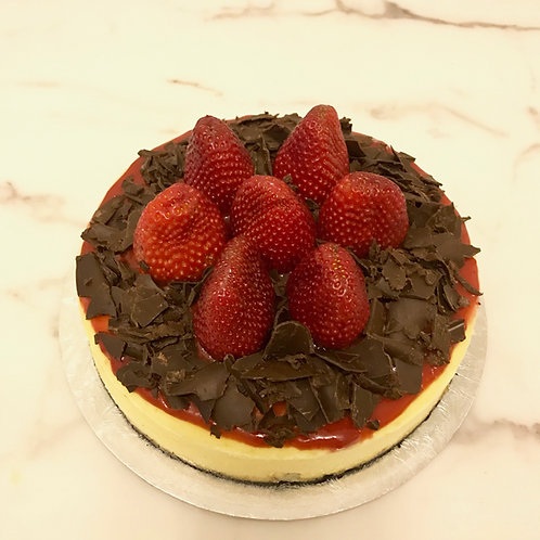 Strawberry Cheesecake with Oreo base and Chocolate decoration