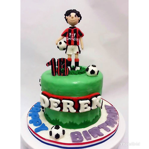 Football player themed cake(Enquire for price)
