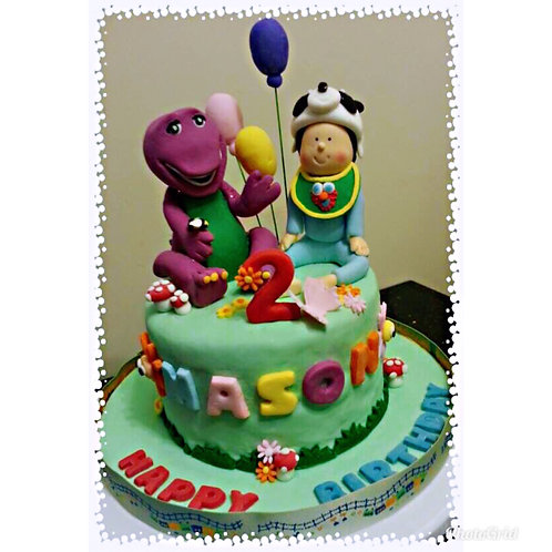 Barney birthday cake(Enquire for price)