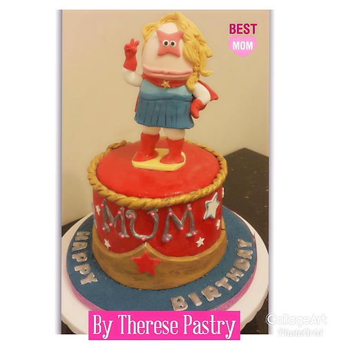 Super Mum Themed cake(Enquire for price)