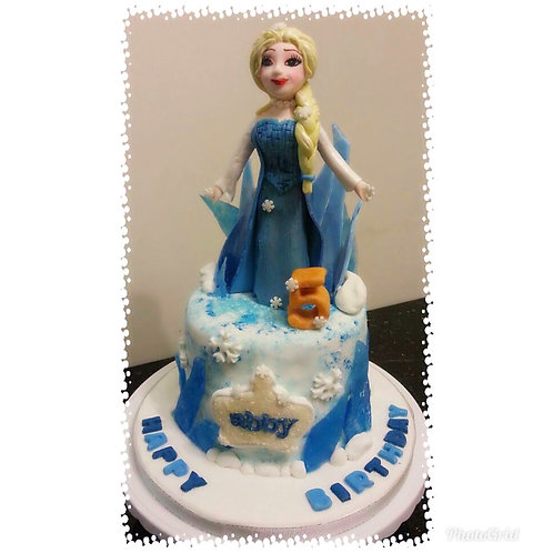 Frozen themed birthday cake(Enquire for price)