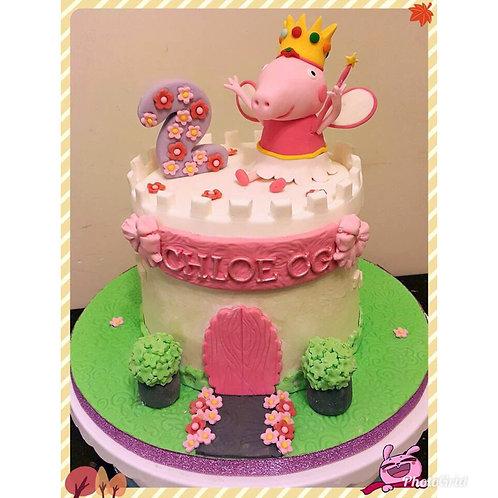 Peppa Pig Princess cake(Enquire for price)
