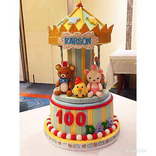 Rilakkuma Carousel 100 days cake(Enquire for price)