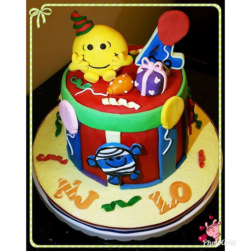 Tailormade Mr. Happy Birthday & Friends cake(Enquire for price)