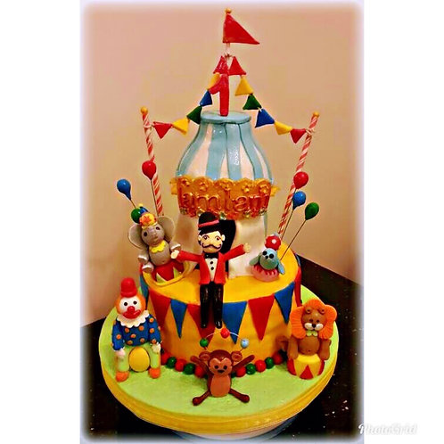 Tailormade Circus themed cake(Enquire for price)