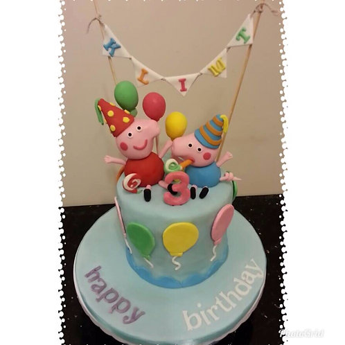 Peppa Pig Birthday Cake(Enquire for price)