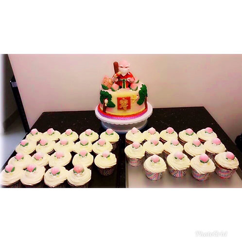Cupcakes to match with the cake(12 pieces)(Enquire for price_)