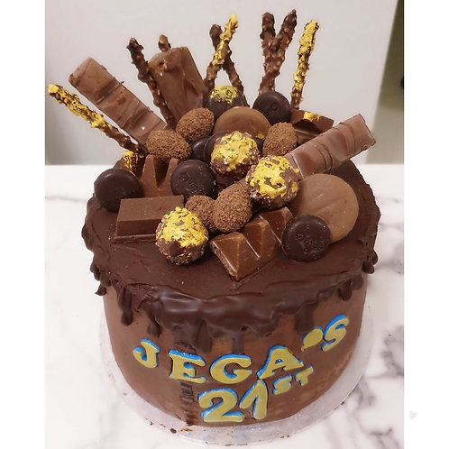 Super Rich Chocolate cake with chocolate buttercream and chocolate decorations