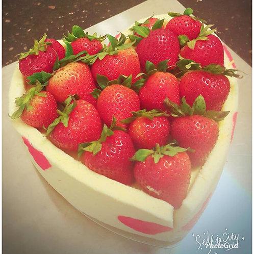 Strawberry Mango Mousse Cake