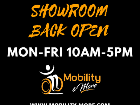 SHOWROOM BACK OPEN!