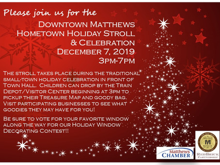 Matthews Holiday Stroll This Saturday