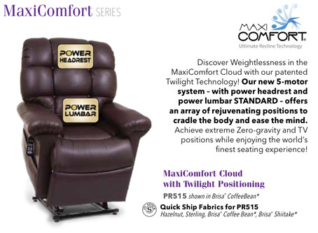 New PR515 MaxiComfort Lift/Recliner