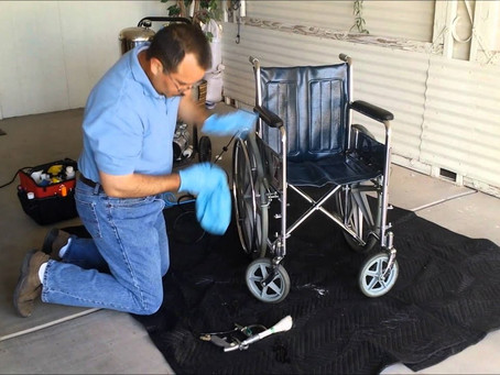 Instructions for Cleaning a Manual Wheelchair