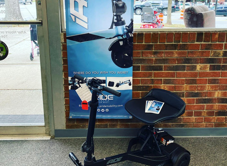 The New iRide Travel Scooter Now Available at Mobility & More