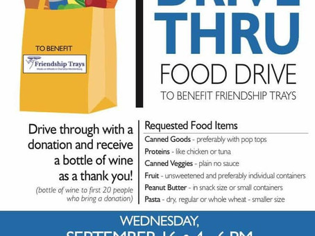 Drive Thru Food Drive-Networking Event