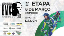 IV COPA REGIONAL RICARDO ALVES DE BMX 2020 1ª ETAPA DA IV COPA REGIONAL RICARDO ALVES DE BMX 08/03.