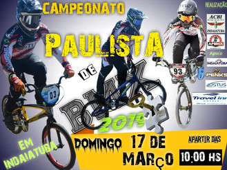 Indaiatuba sedia a abertura do campeonato Paulista de BMX 2019.