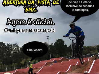 PISTA DE BMX DE INDAIATUBA REABRE COM NOVOS HORARIOS.